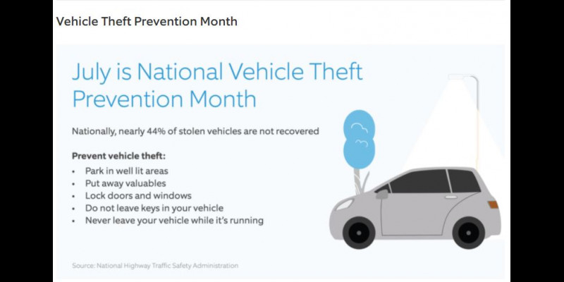 Image for July - National Vehicle Theft Prevention Month